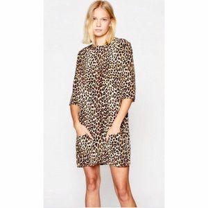 Equipment Aubrey Silk leopard dress